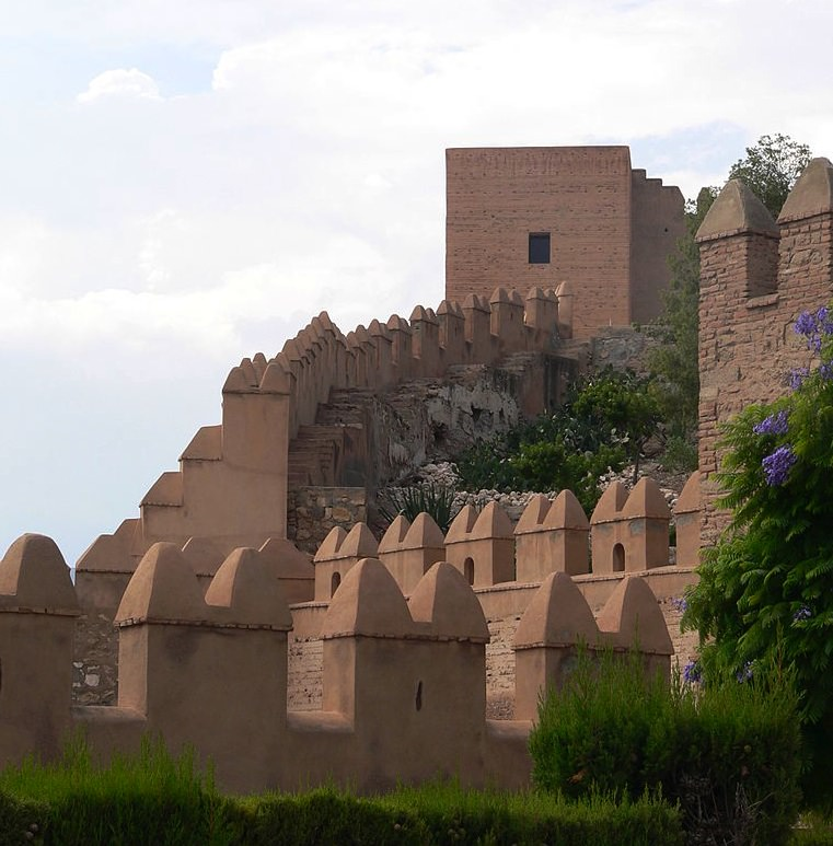 Alcazaba Almeria one of the more famous castles in spain