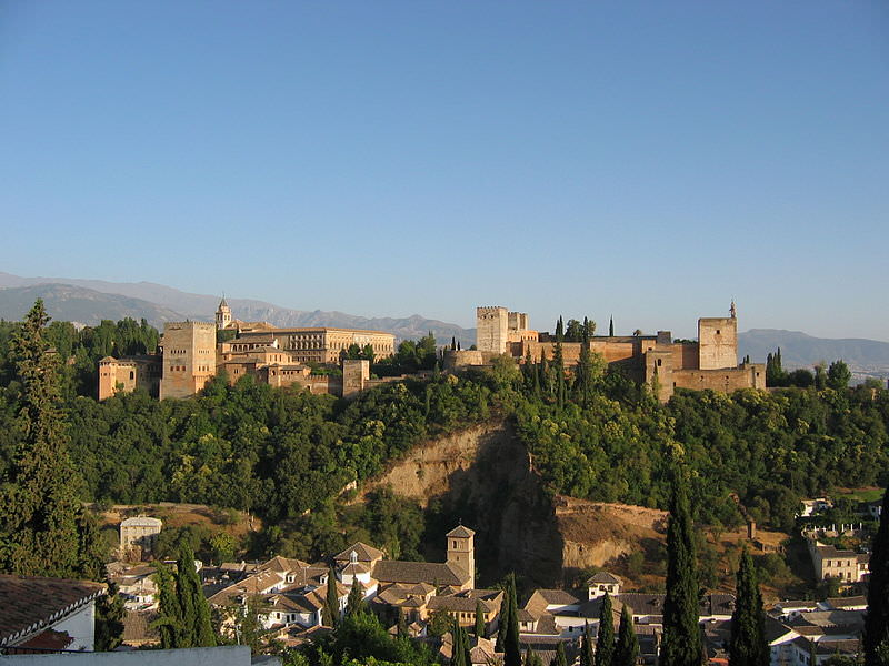 The Alhambra, one of the famous castles in spain