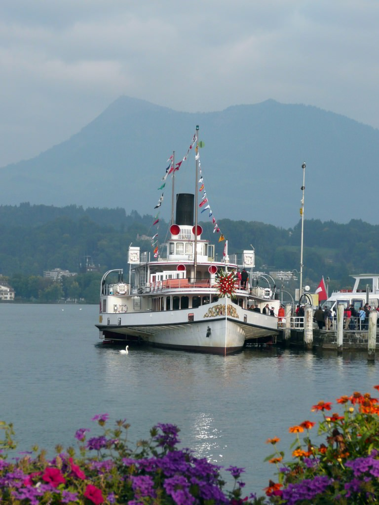 Boat excursion on Lac Leman In Switzerland