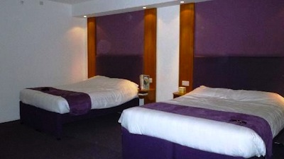 room at the Premier Inn London County Hall