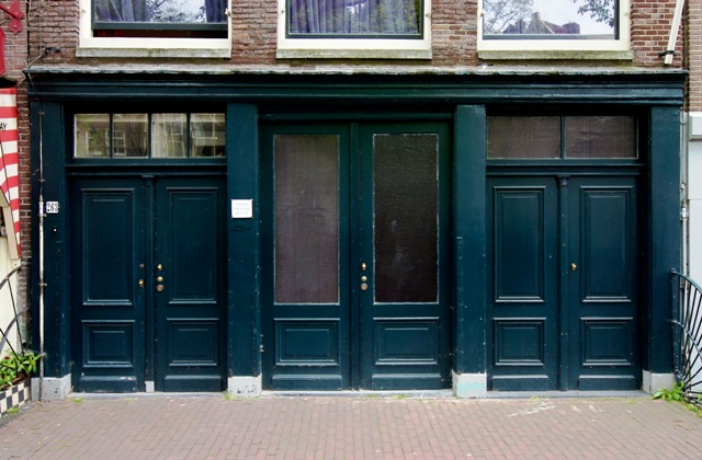 entrance to the Anne Frank House in Amsterdam