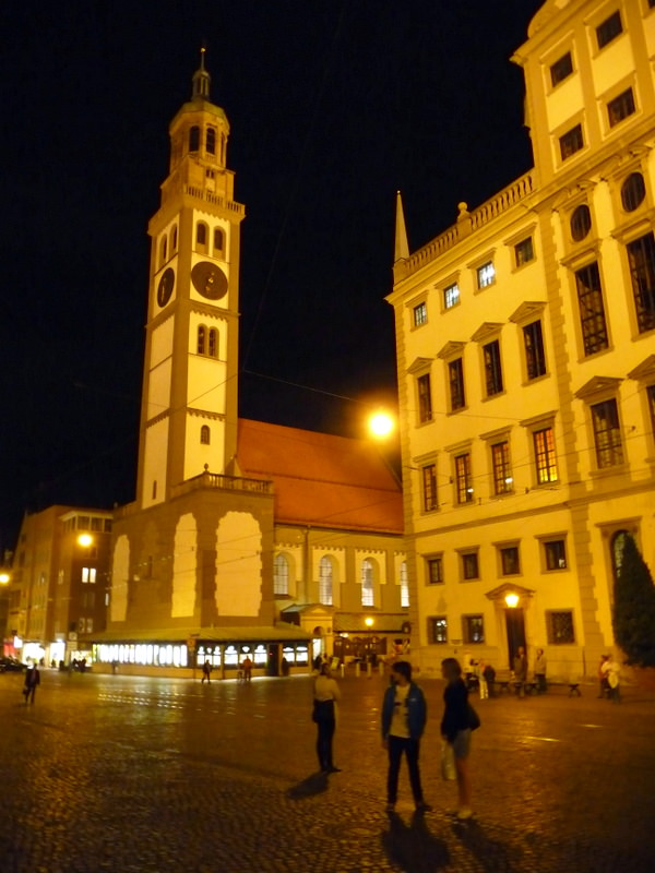 Augsburg at night