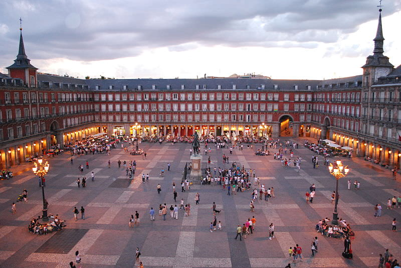 The Plaza de Mayor in Madrid