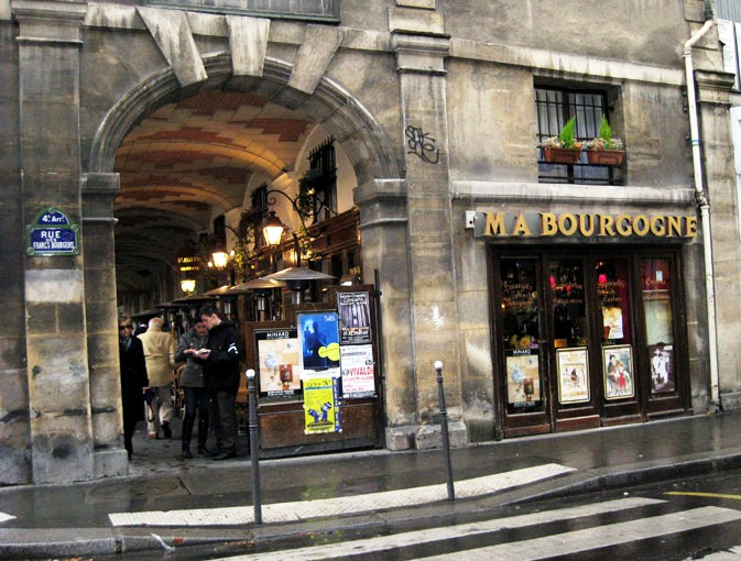 Cafe Ma Bourgone in Paris's Marais