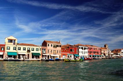 The colorful houses on Murano
