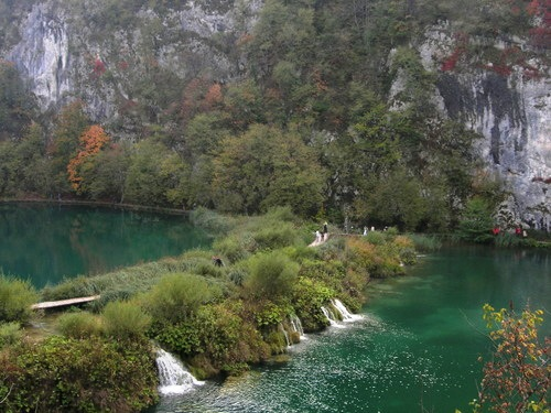 The lower lakes in the National park in Plitvice Croatia