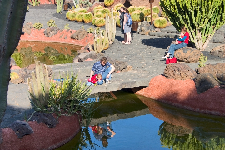 Pools at the Cactus garden in Lanzarote