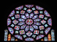 Rose WIndow at Chartres Cathedral