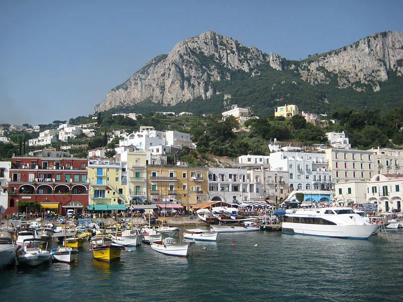 Monte Solaro from the Capri coastline