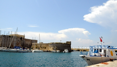 Gallipoli castle and working waterfront