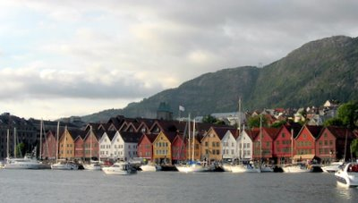Bryggen from the sea