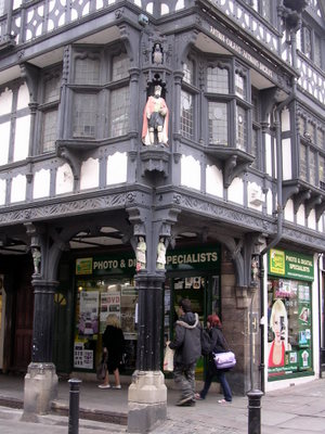 Chester is known for its half-timbered buildings