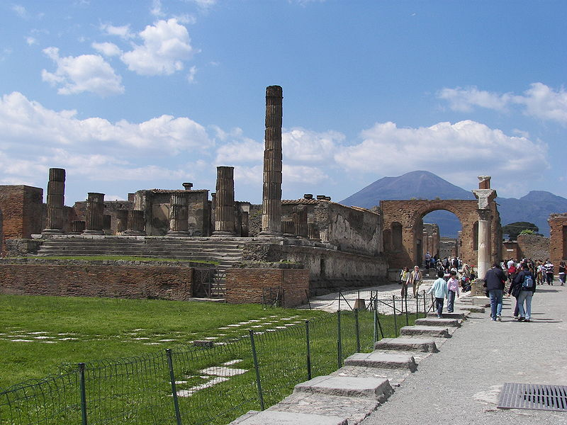 The Forum in Pompeii, Italy