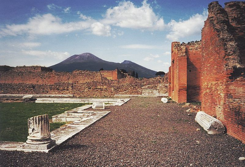 Mt Vesuvius from Pompeii, Italy
