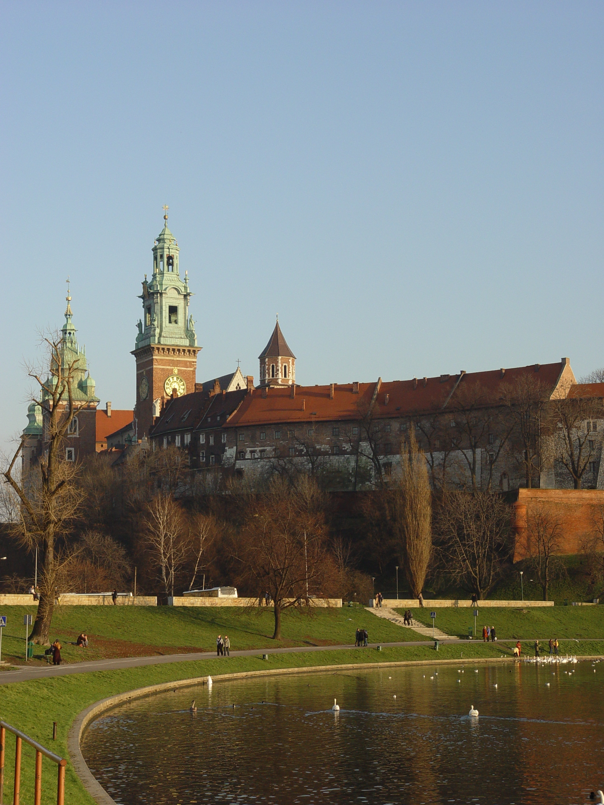 Vistula river near the Wawel castle