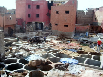 leather production process in Marrakech