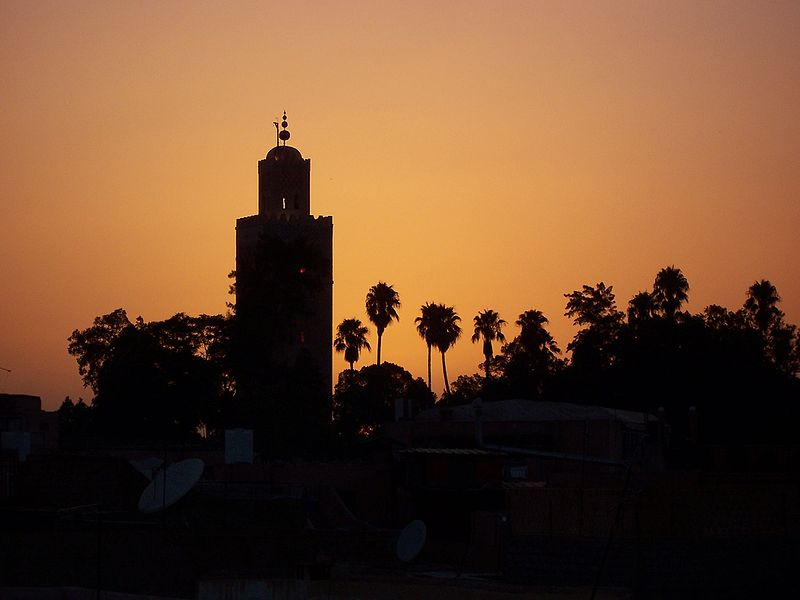 koutoubia mosque sunset
