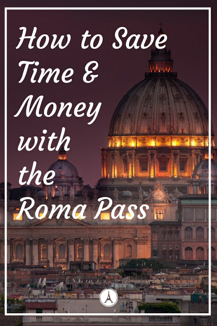 St Peter's Basilica in Rome lid up at night - How to save Time and Money with the Roma Pass