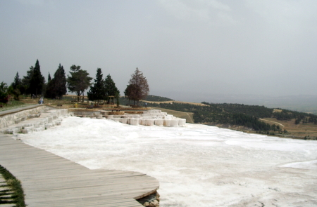 A travertine shelf in Pamukkale