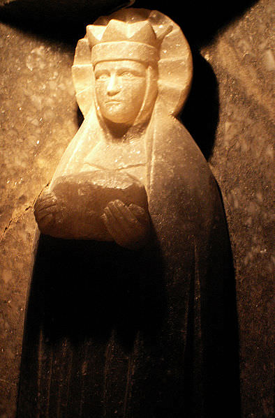 Saint Barbara statue in salt mine