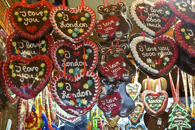 I love you london Cookies at Winter Wonderland in London