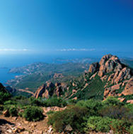 Esterel  mountains near St Raphael