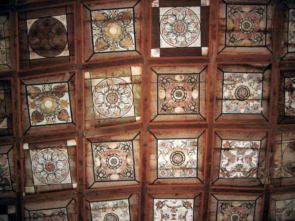 Huedin church ceiling