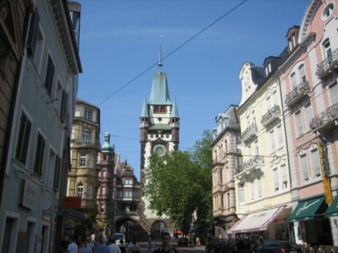 The Martinstor in Central Freiburg