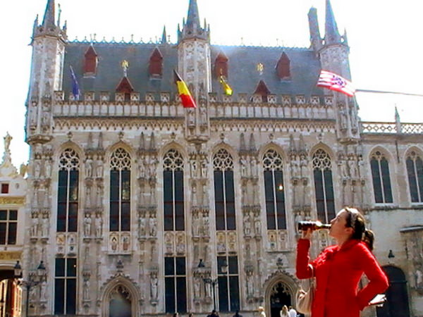 Beer on the Grand Place in Brussels