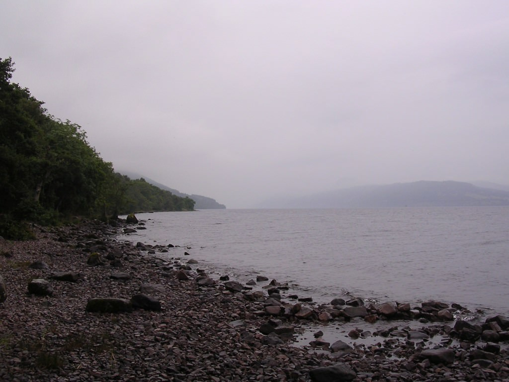 First glimpse of Loch Ness A wet road ahead