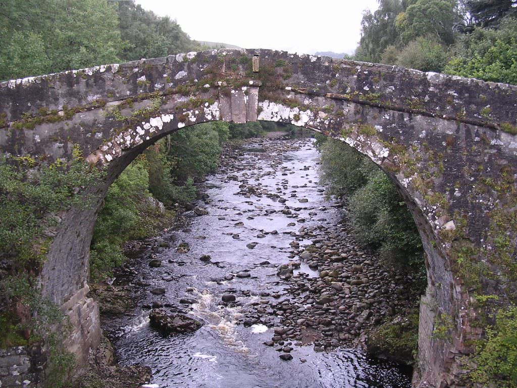 Old stone bridge used by the military to subdue uncooperative Highlanders
