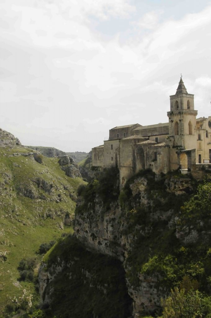 Matera canyon and church