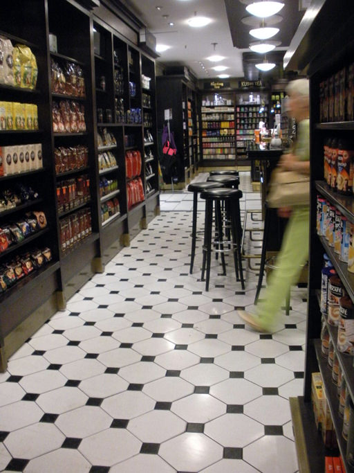 Meandering the aisles of the gourmet floor