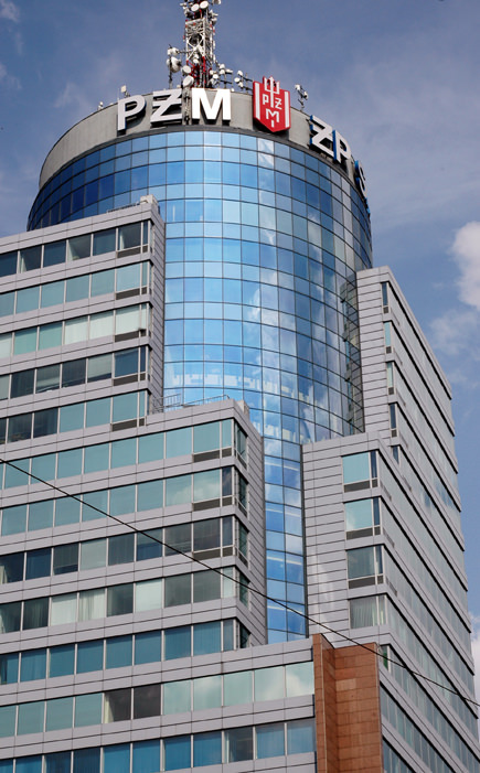 PAZIM Tower, the highest building in Sczcecin, is connected to the main shopping center