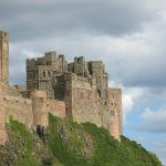 Imposing Bamburgh Castle in England's Northumberland