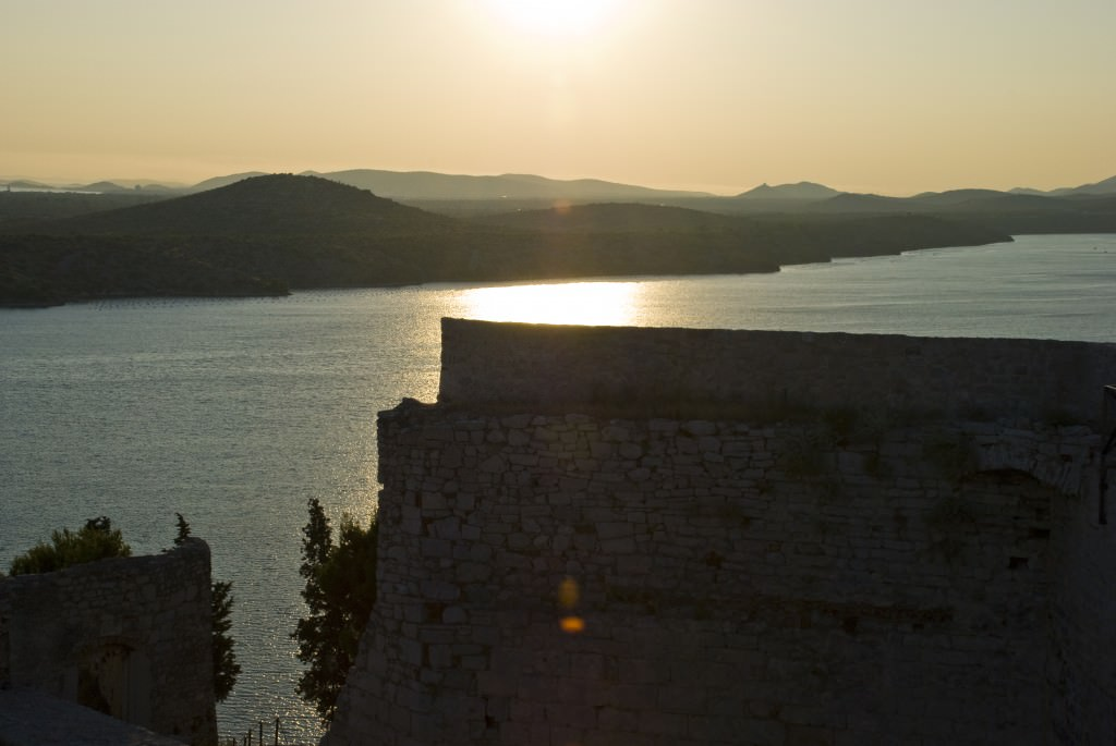 Sunset in the Šibenik Riviera