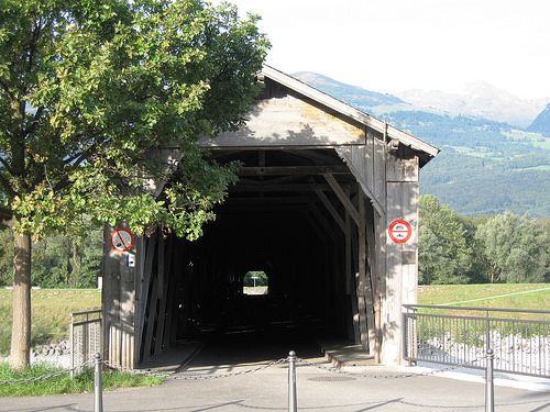 Covered bridge in Liechtenstein