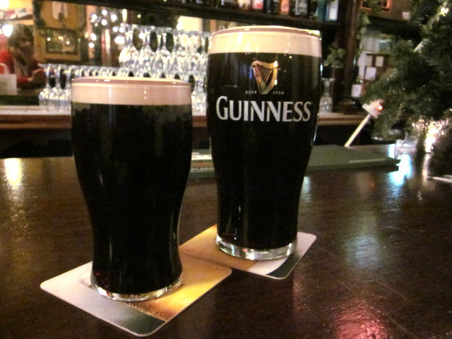 Be sure to have a pint of Guinness