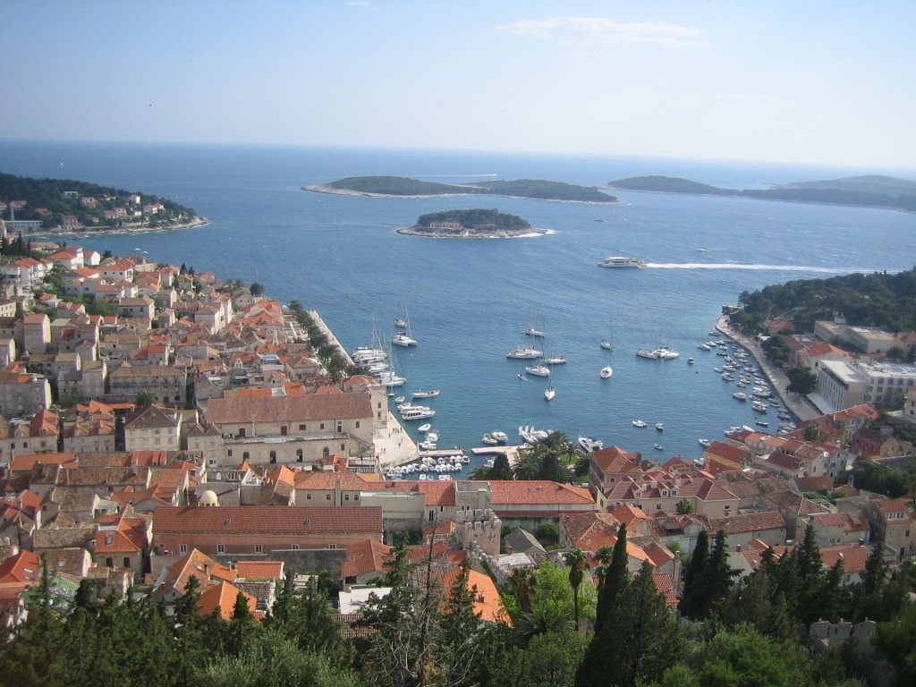 Views of Hvar Harbor from Castle