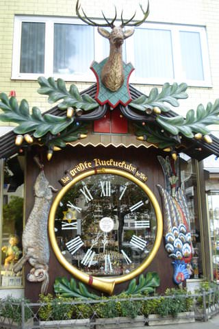the largest Cuckoo Clock in the world, in Wiesbaden