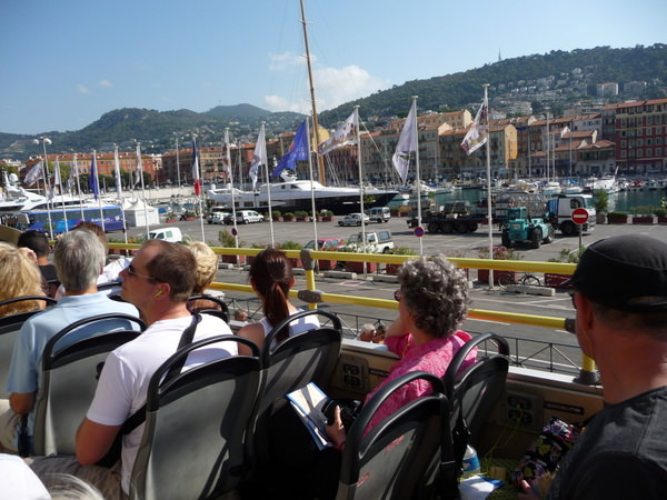 enjoying the view while on the Grand Tour of Nice