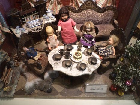 dolls in the toy museum of istanbul