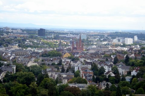a scenic view of Wiesbaden, germany's spa city