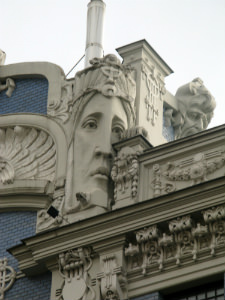 Art Nouveau architecture is evident throughout in Riga