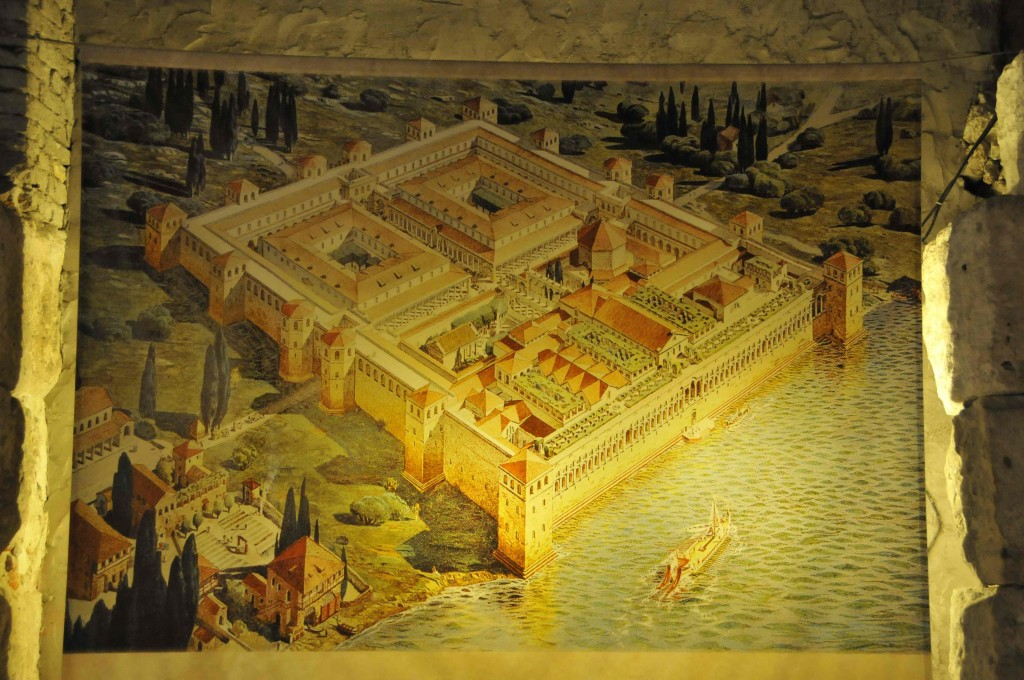 Painting of Diocletian's Palace in Split