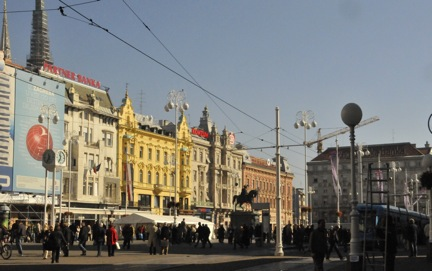 A lively street in Zagreb