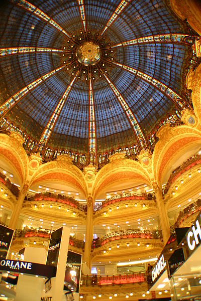 Paris Icon the Galeries Lafayette inside the dome