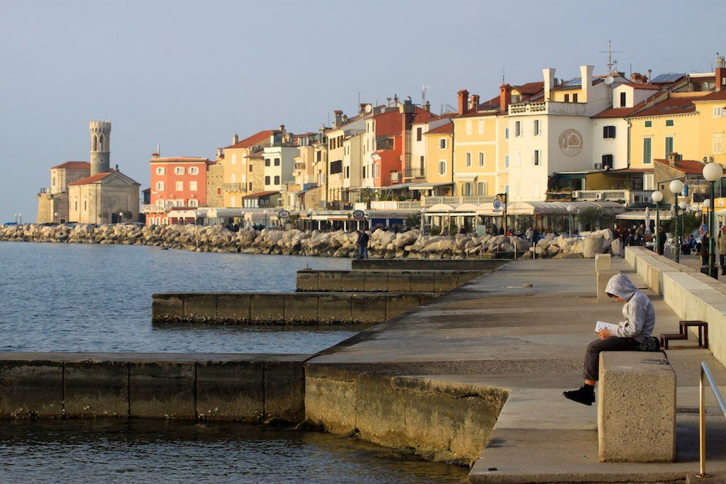 Waterfront in Piran, Slovenia