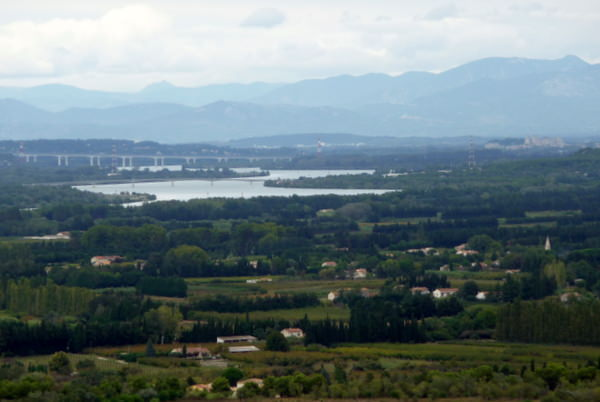 Rhone Valley from the St Roman Abbaye