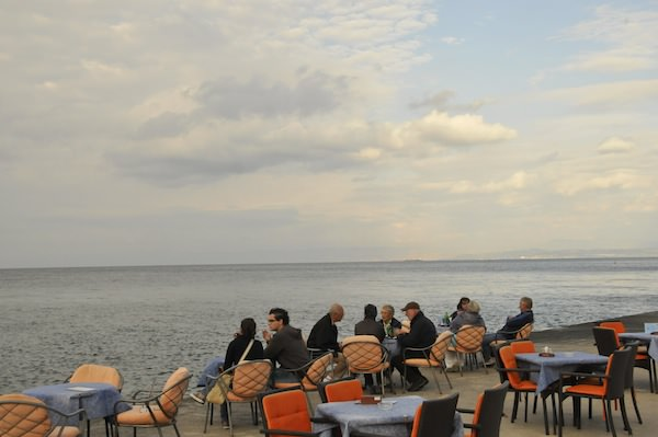 Seaside Cafe in Piran, Slovenia